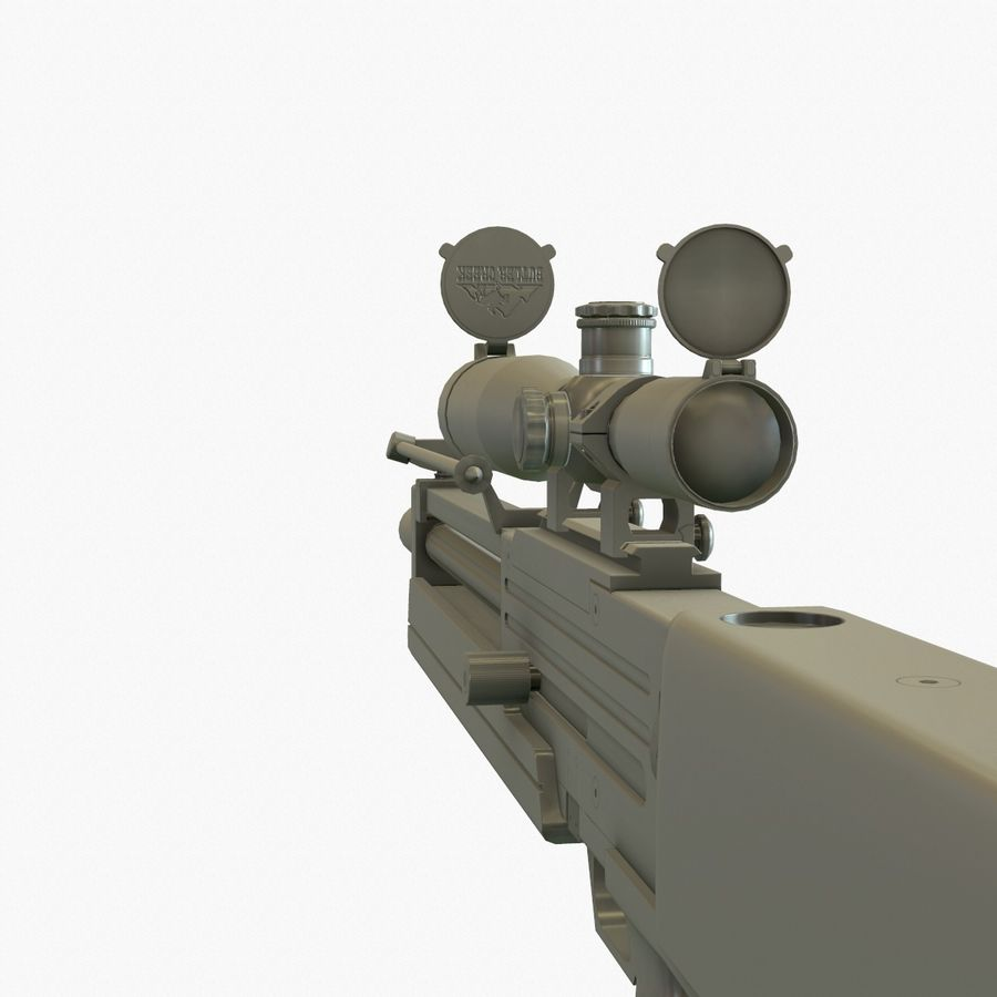 Walther WA 2000 Normalna mapa royalty-free 3d model - Preview no. 16