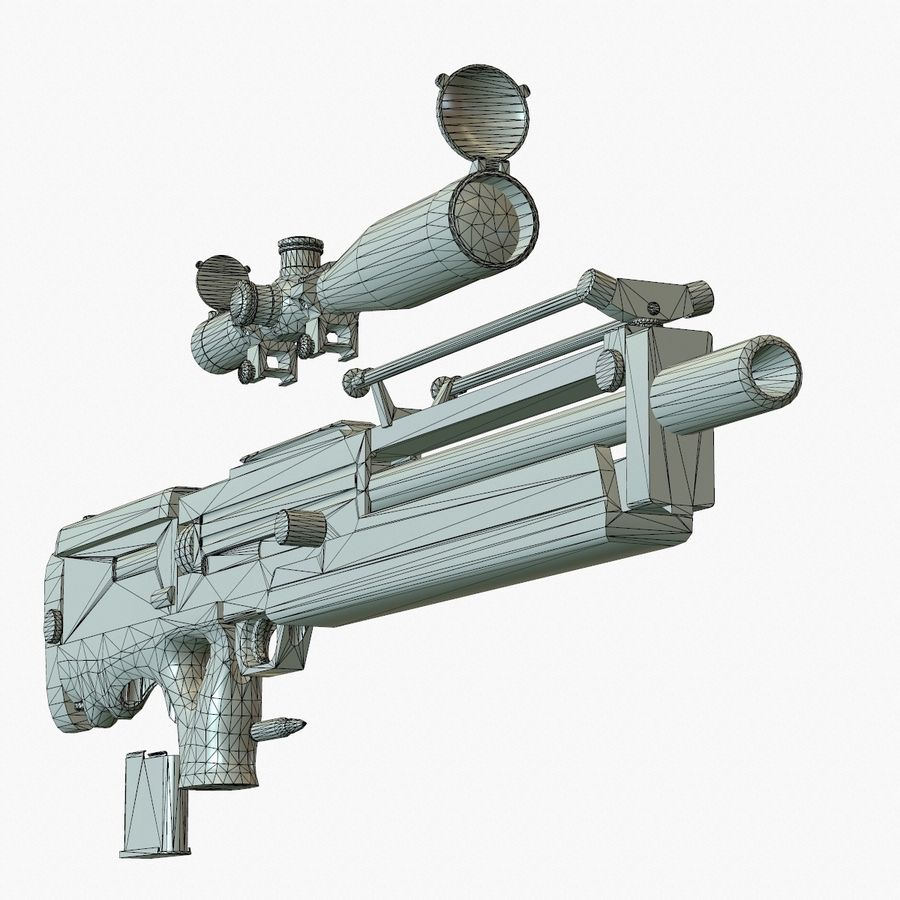 Walther WA 2000 Normalna mapa royalty-free 3d model - Preview no. 19