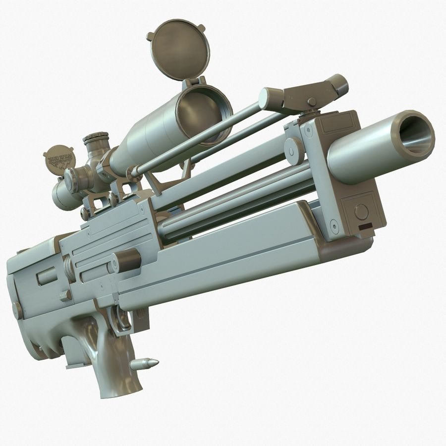 Walther WA 2000 Normalna mapa royalty-free 3d model - Preview no. 8