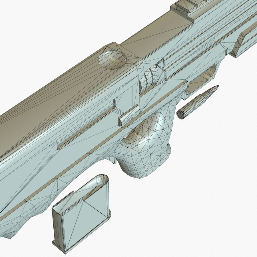 Walther WA 2000 Normalna mapa royalty-free 3d model - Preview no. 24