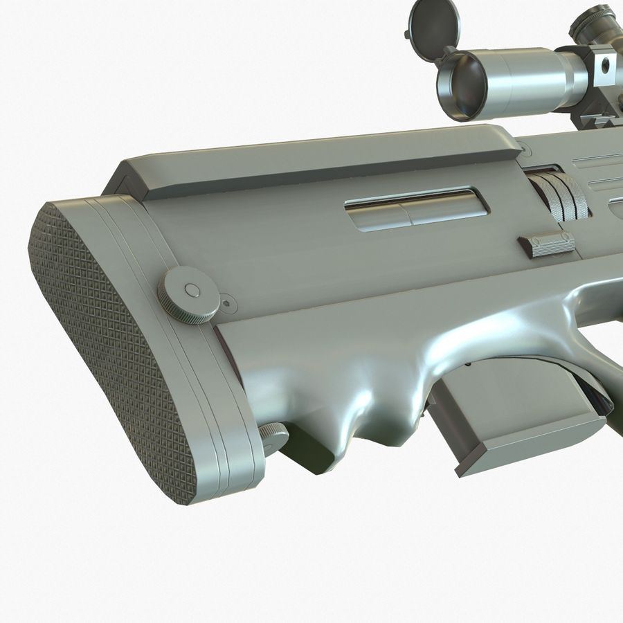 Walther WA 2000 Normalna mapa royalty-free 3d model - Preview no. 10