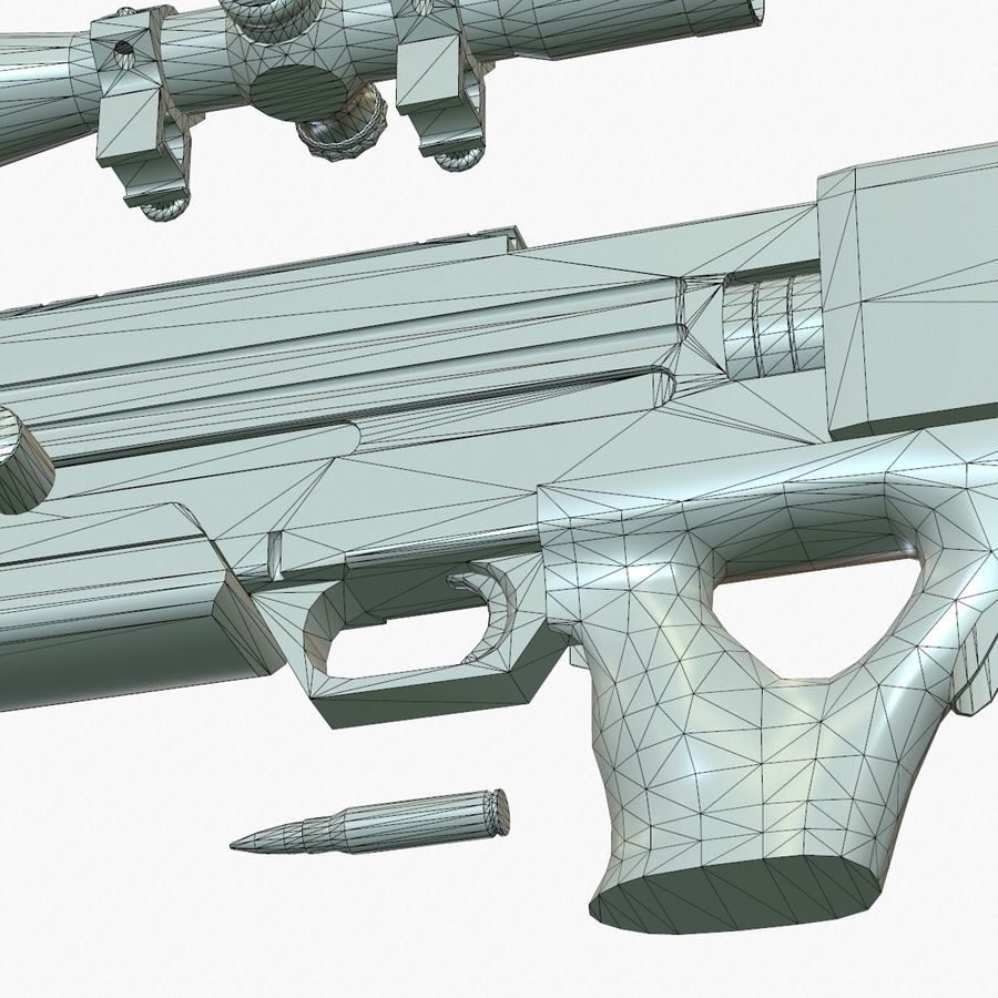 Walther WA 2000 Normalna mapa royalty-free 3d model - Preview no. 23