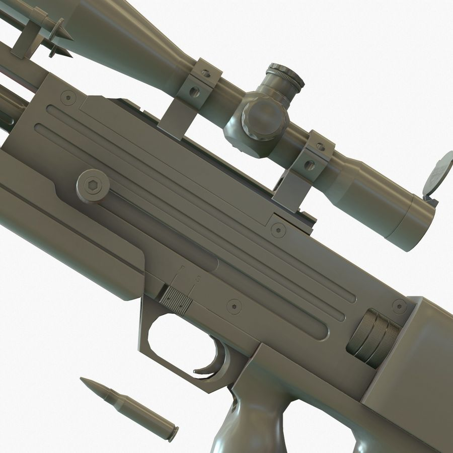 Walther WA 2000 Normalna mapa royalty-free 3d model - Preview no. 9