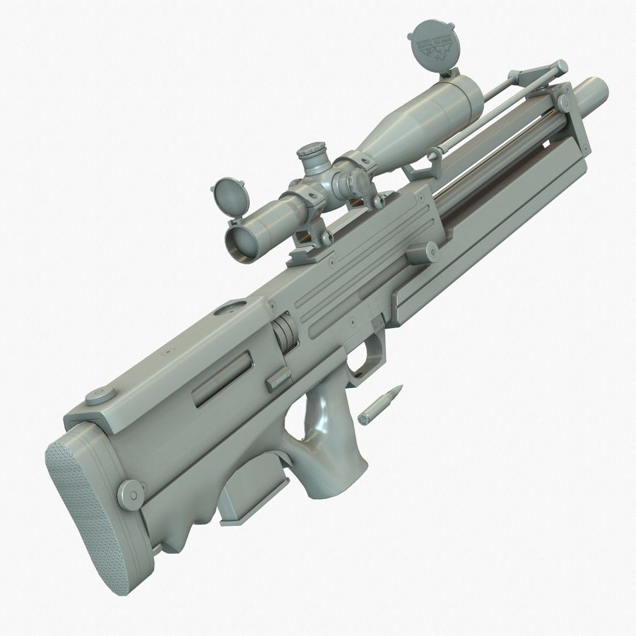 Walther WA 2000 Normalna mapa royalty-free 3d model - Preview no. 6