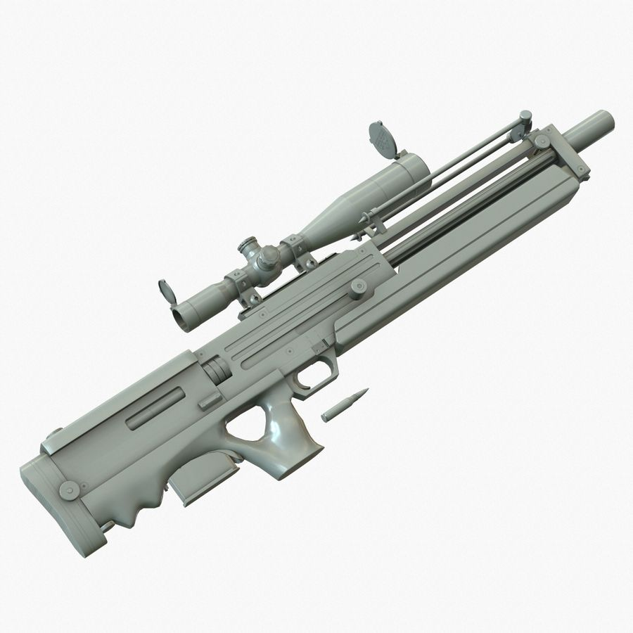 Walther WA 2000 Normalna mapa royalty-free 3d model - Preview no. 5