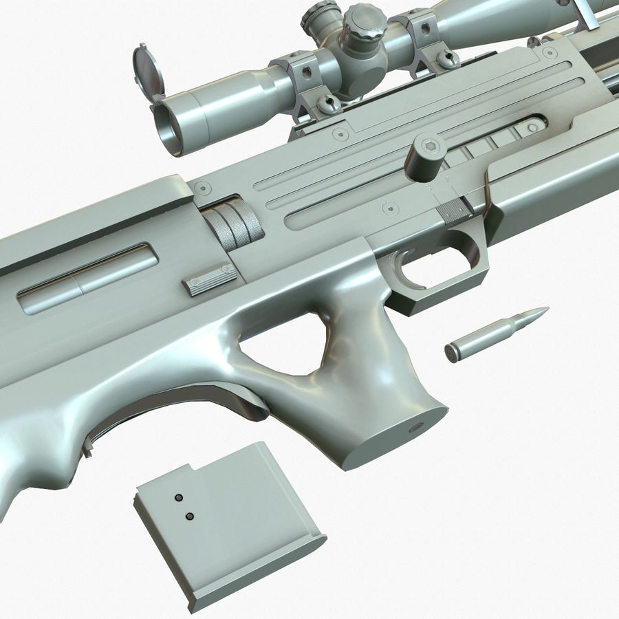 Walther WA 2000 Normalna mapa royalty-free 3d model - Preview no. 13
