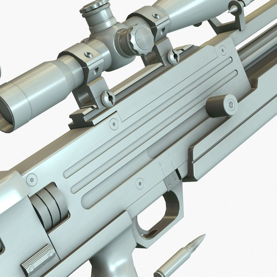 Walther WA 2000 Normalna mapa royalty-free 3d model - Preview no. 12