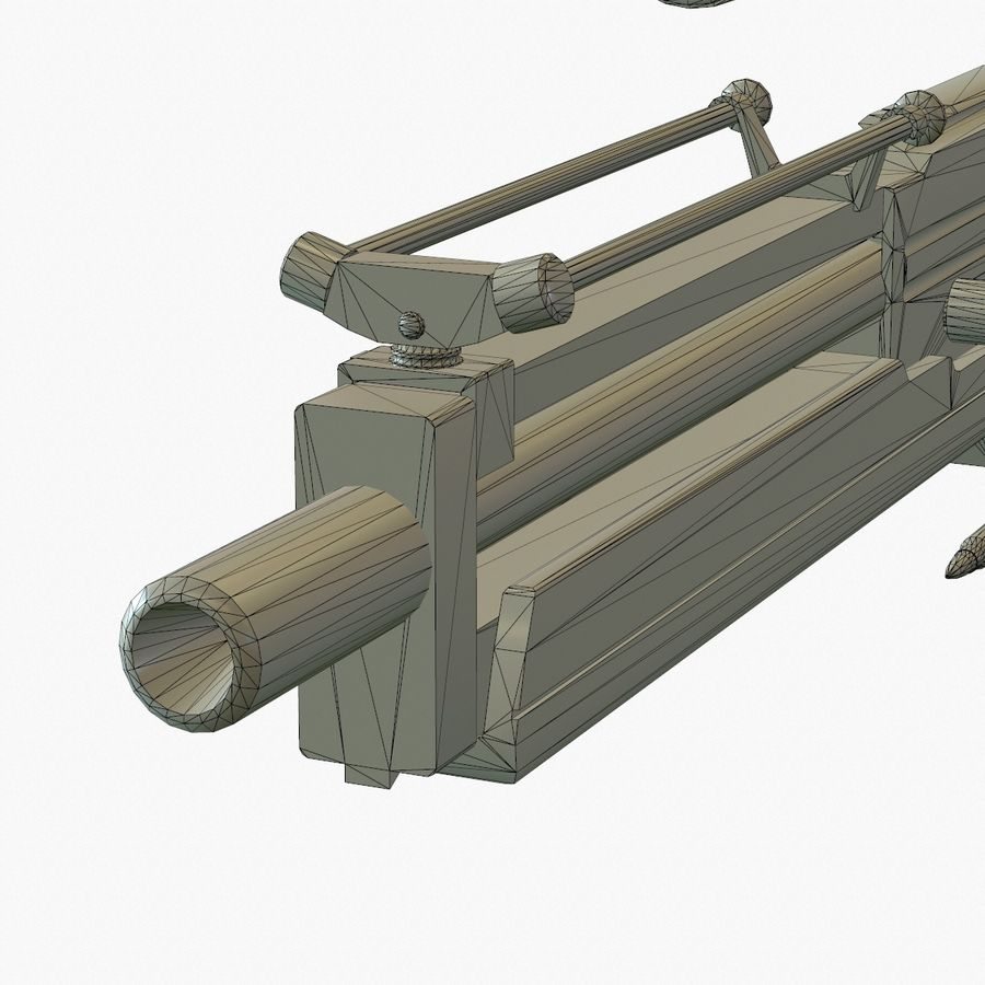 Walther WA 2000 Normalna mapa royalty-free 3d model - Preview no. 21