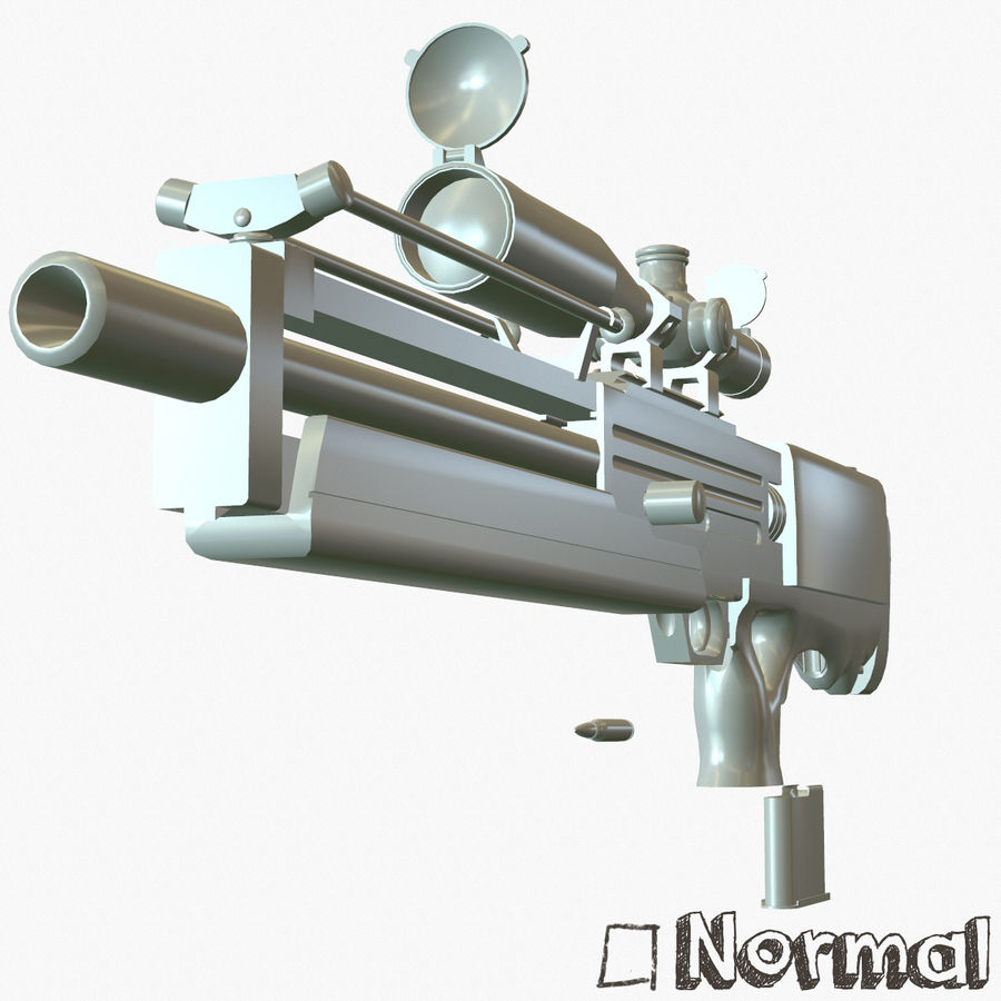 Walther WA 2000 Normalna mapa royalty-free 3d model - Preview no. 26