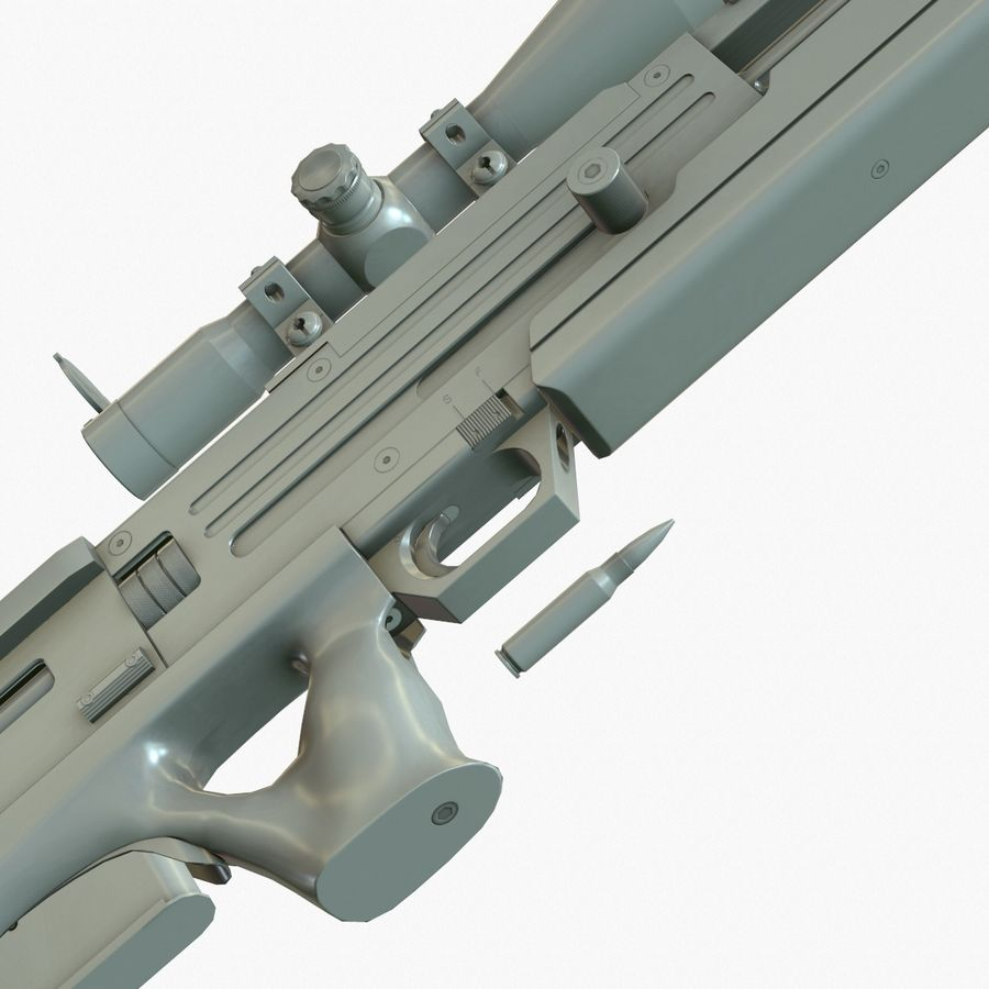 Walther WA 2000 Normalna mapa royalty-free 3d model - Preview no. 11