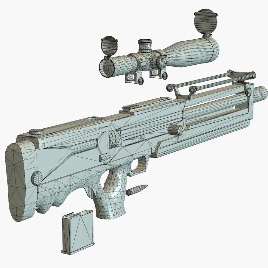 Walther WA 2000 Normalna mapa royalty-free 3d model - Preview no. 18