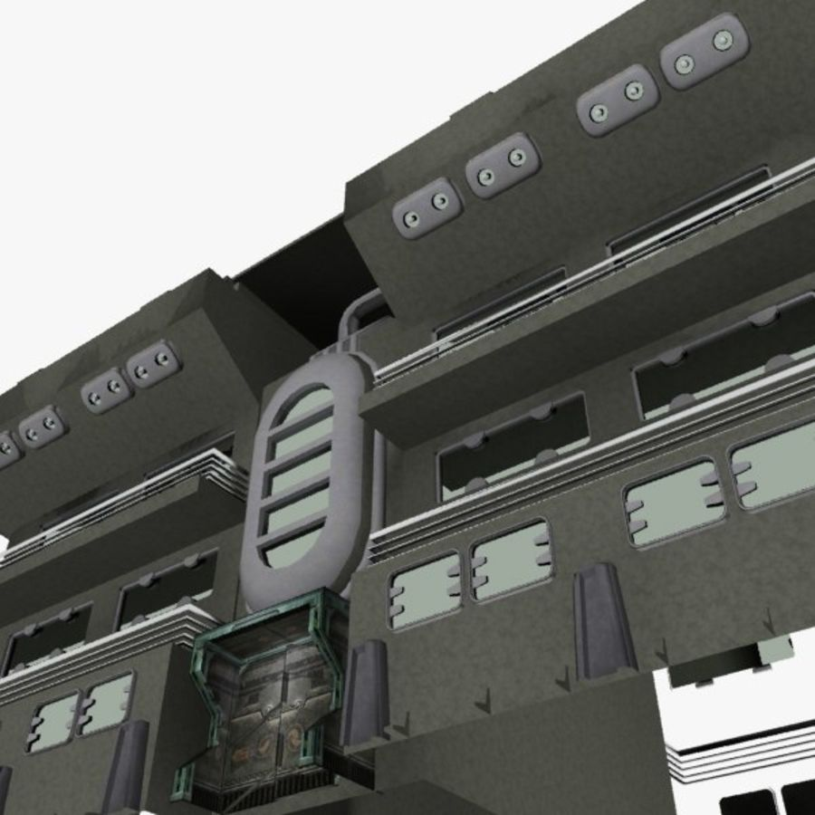 SCI FI BUILDING royalty-free 3d model - Preview no. 9