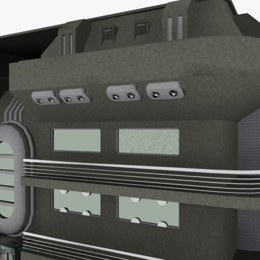 SCI FI BUILDING royalty-free 3d model - Preview no. 10