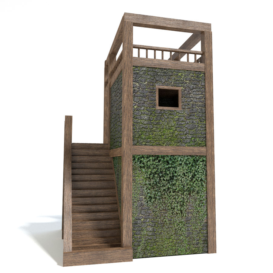 Watch Tower royalty-free 3d model - Preview no. 3