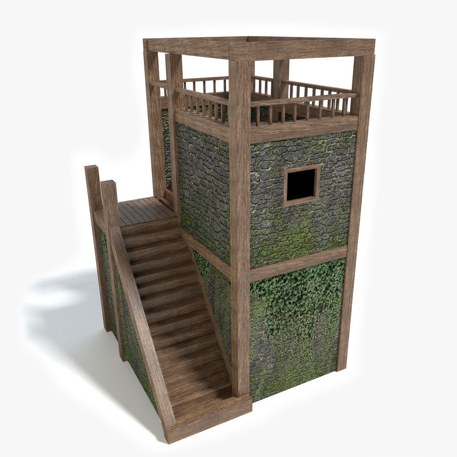 Watch Tower royalty-free 3d model - Preview no. 1