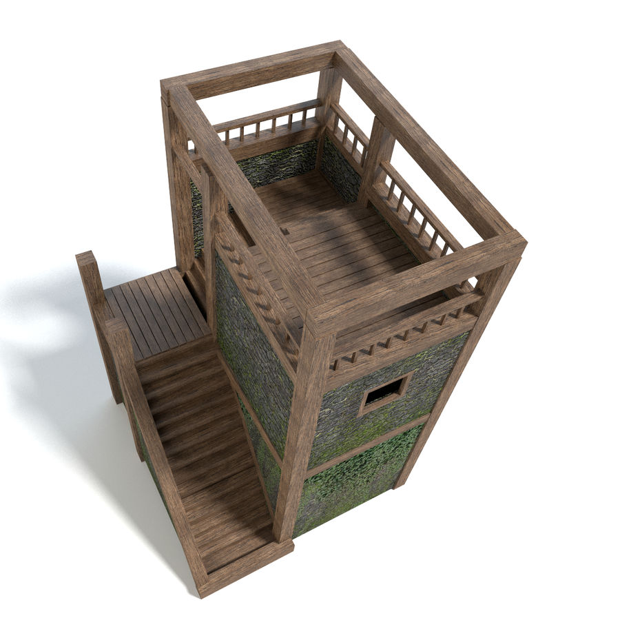 Watch Tower royalty-free 3d model - Preview no. 2