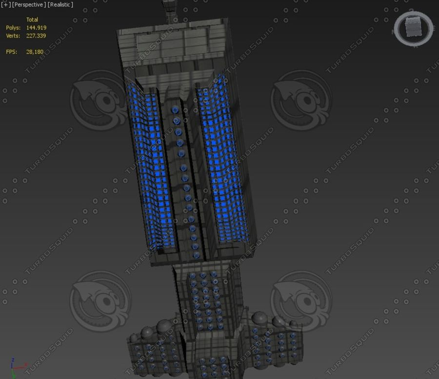 Battleship Sci-fi royalty-free 3d model - Preview no. 6