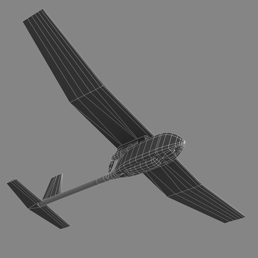 AeroVironment RQ-11レイヴン royalty-free 3d model - Preview no. 9
