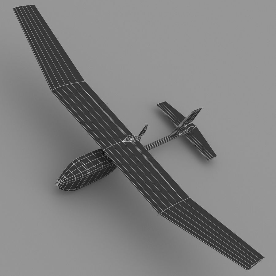 AeroVironment RQ-11レイヴン royalty-free 3d model - Preview no. 3