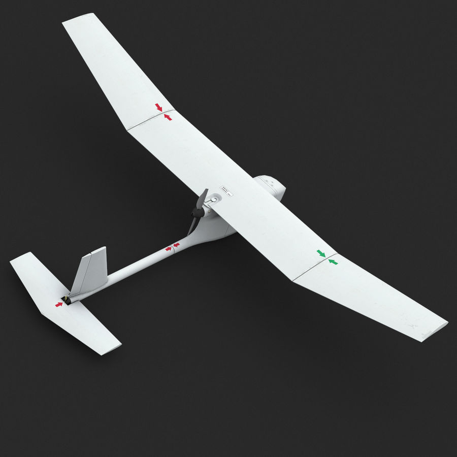 AeroVironment RQ-11レイヴン royalty-free 3d model - Preview no. 4