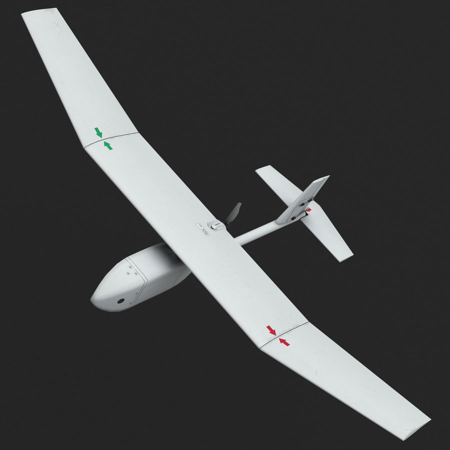 AeroVironment RQ-11レイヴン royalty-free 3d model - Preview no. 2