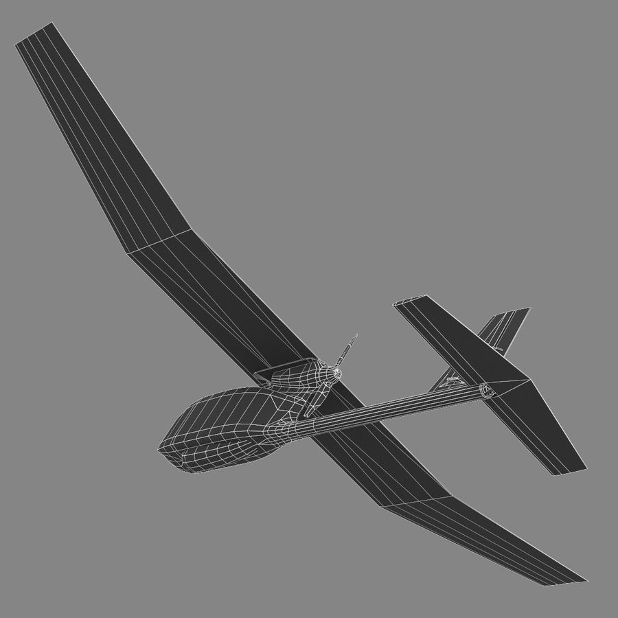 AeroVironment RQ-11レイヴン royalty-free 3d model - Preview no. 7