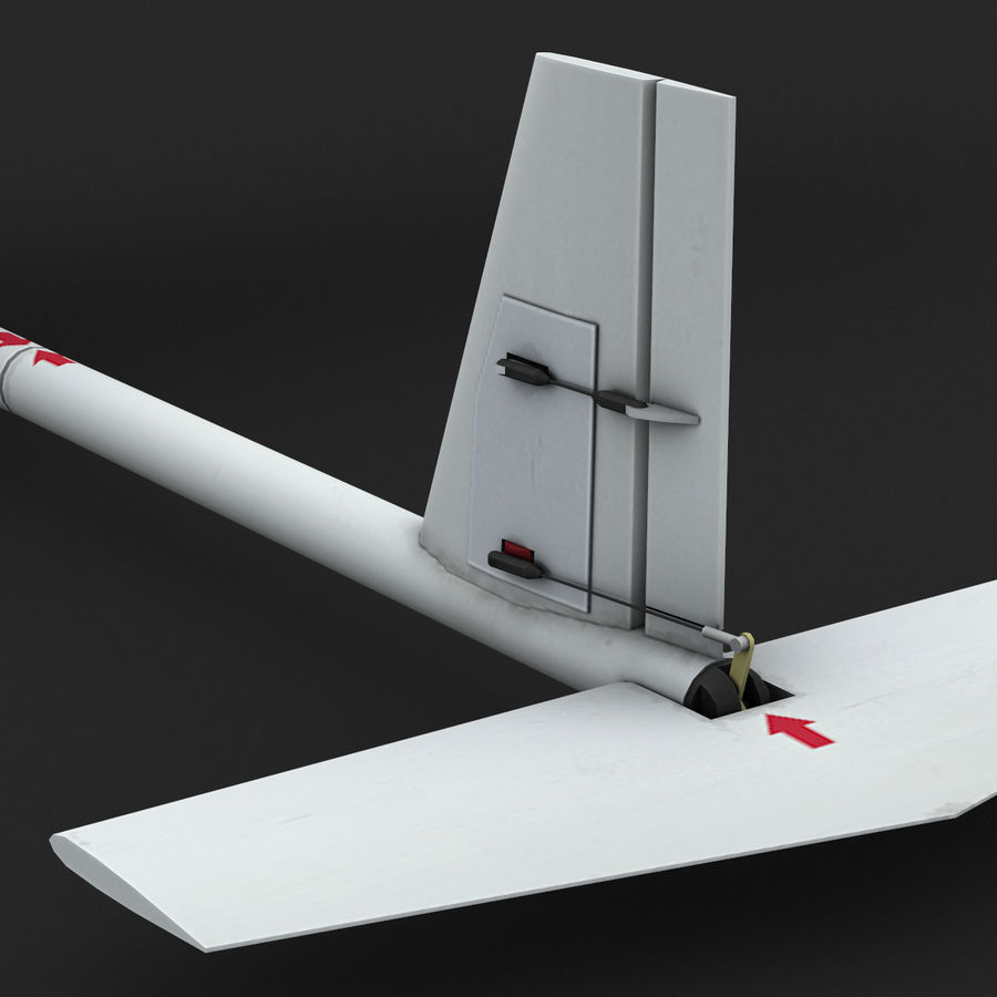AeroVironment RQ-11レイヴン royalty-free 3d model - Preview no. 11