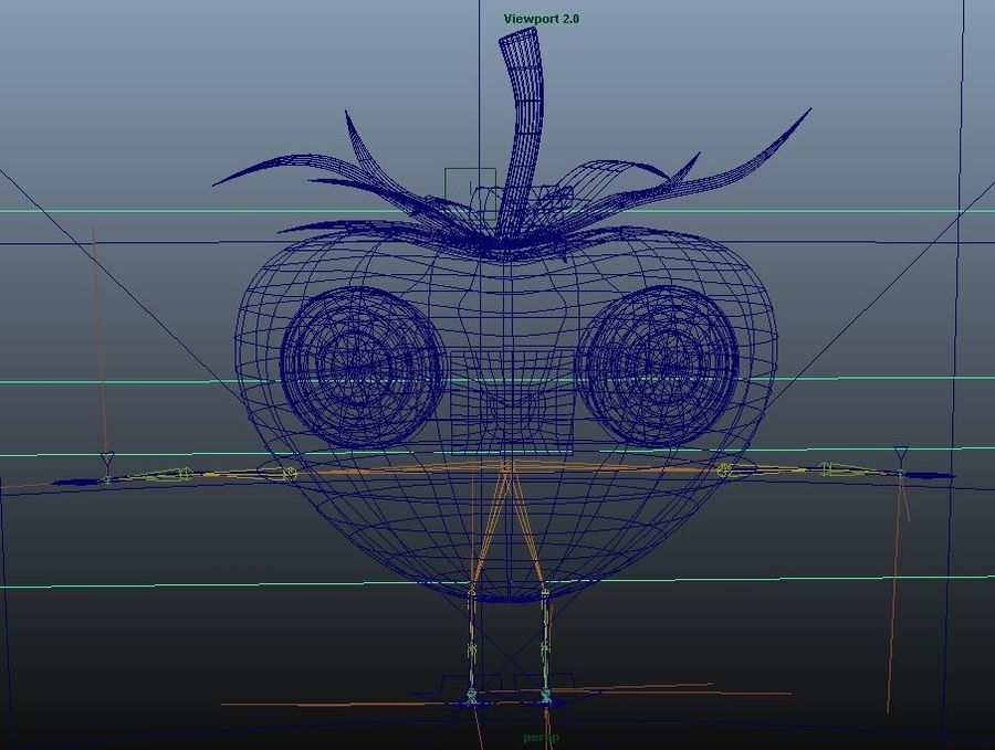 Animated Strawberry Character royalty-free 3d model - Preview no. 10