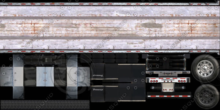 Kenworth W900 Flat Bed Loader royalty-free 3d model - Preview no. 18