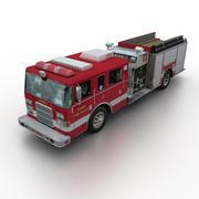Pierce Fire Rescue Truck 3d model