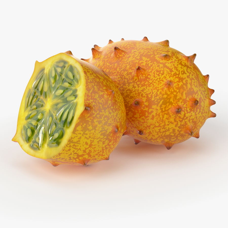 Realistic Kivano Fruit royalty-free 3d model - Preview no. 4
