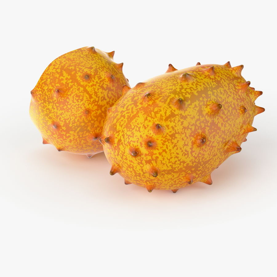 Realistic Kivano Fruit royalty-free 3d model - Preview no. 3