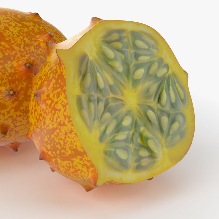 Realistic Kivano Fruit royalty-free 3d model - Preview no. 5