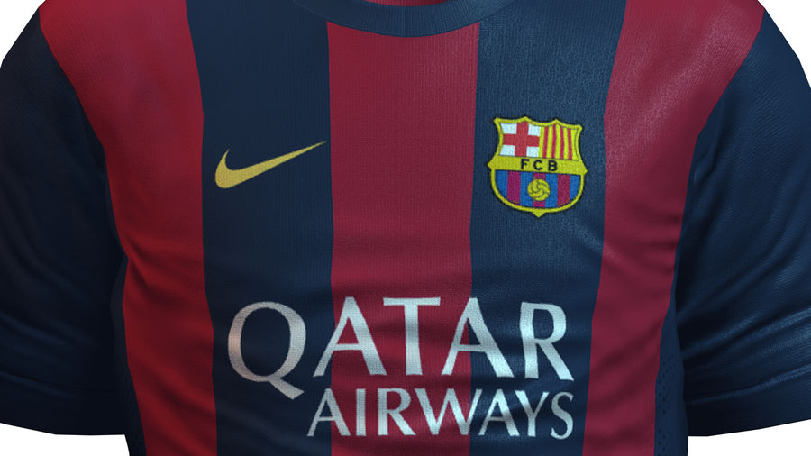 Barcelona FC 2014/2015 Jerseys royalty-free 3d model - Preview no. 6