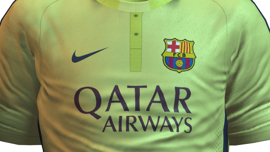 Barcelona FC 2014/2015 Jerseys royalty-free 3d model - Preview no. 9