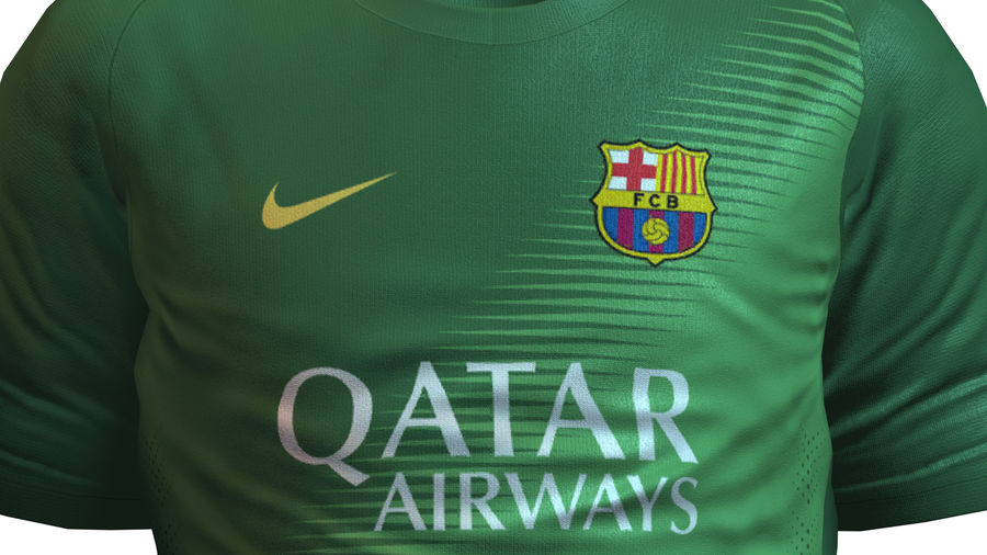 Barcelona FC 2014/2015 Jerseys royalty-free 3d model - Preview no. 10