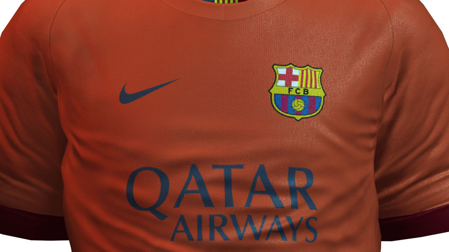 Barcelona FC 2014/2015 Jerseys royalty-free 3d model - Preview no. 8