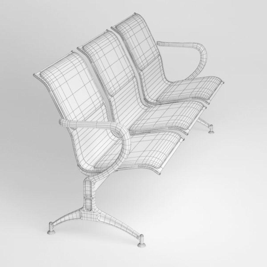 Krzesło lotniskowe royalty-free 3d model - Preview no. 9