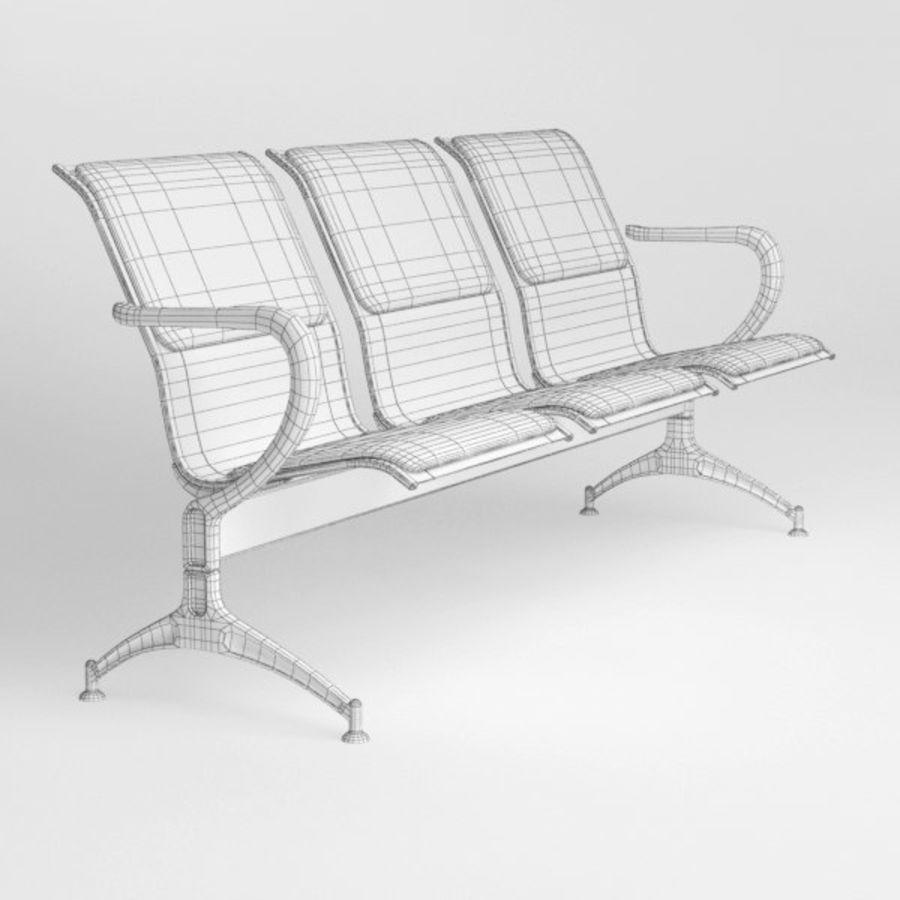 Krzesło lotniskowe royalty-free 3d model - Preview no. 8