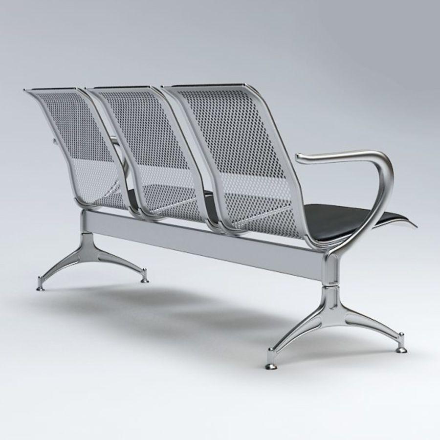 Krzesło lotniskowe royalty-free 3d model - Preview no. 5