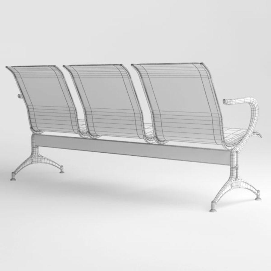 Krzesło lotniskowe royalty-free 3d model - Preview no. 11