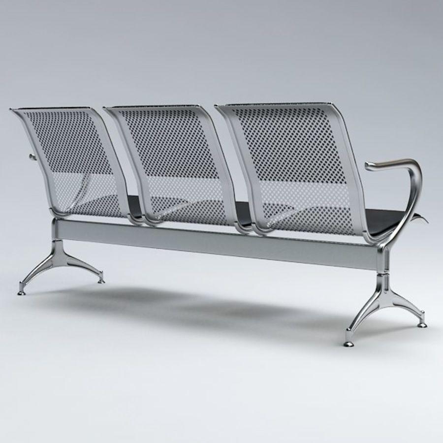 Krzesło lotniskowe royalty-free 3d model - Preview no. 6