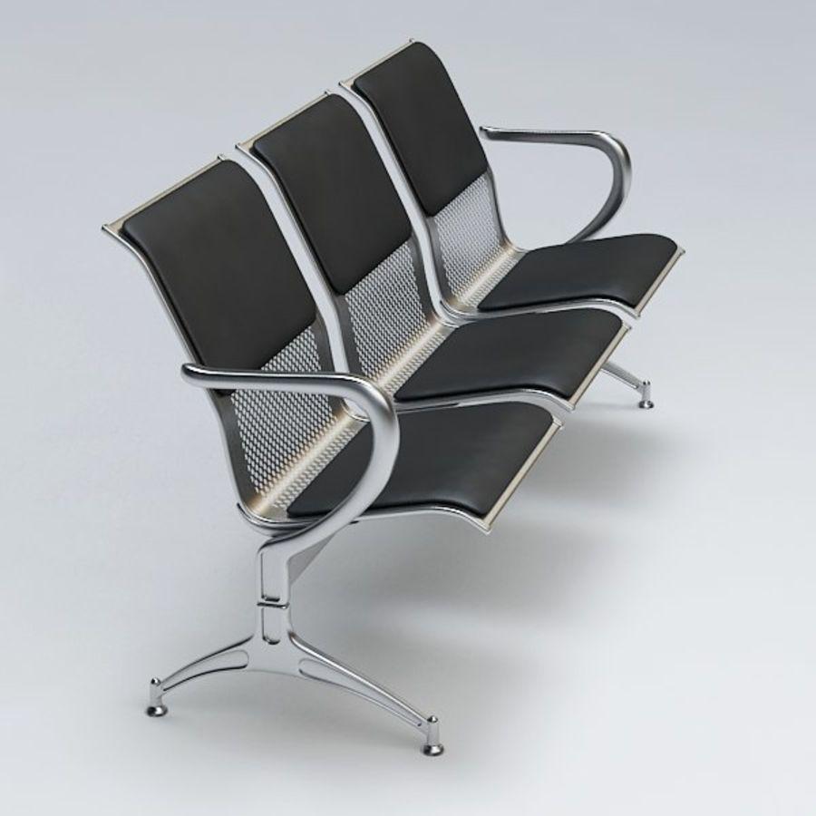 Krzesło lotniskowe royalty-free 3d model - Preview no. 4