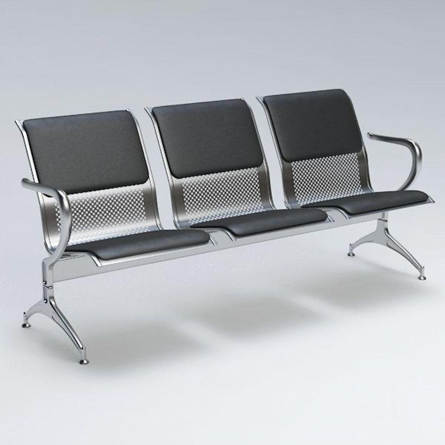 Krzesło lotniskowe royalty-free 3d model - Preview no. 2