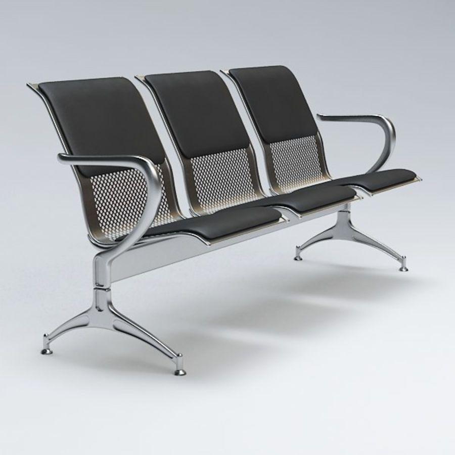 Krzesło lotniskowe royalty-free 3d model - Preview no. 3
