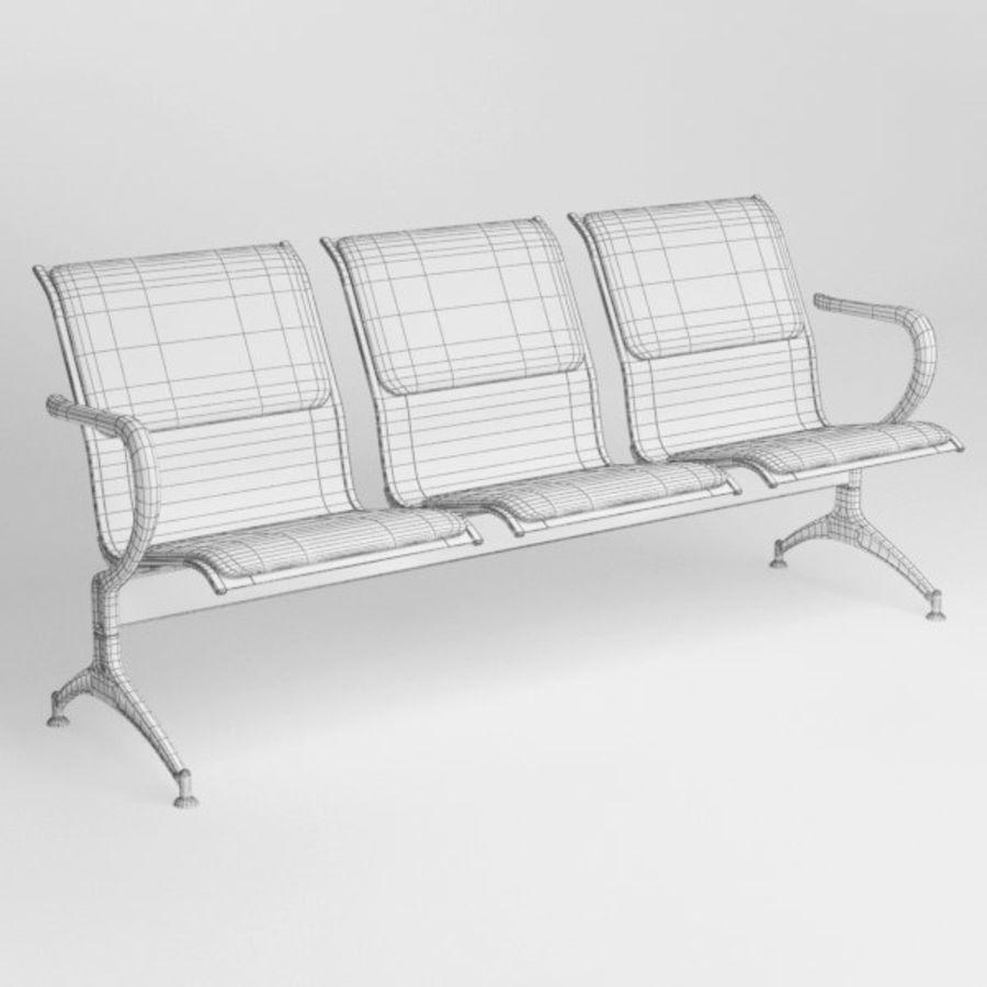 Krzesło lotniskowe royalty-free 3d model - Preview no. 7