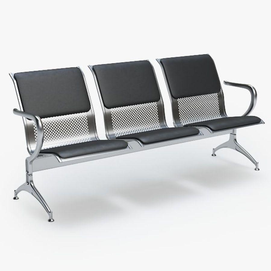 Krzesło lotniskowe royalty-free 3d model - Preview no. 1