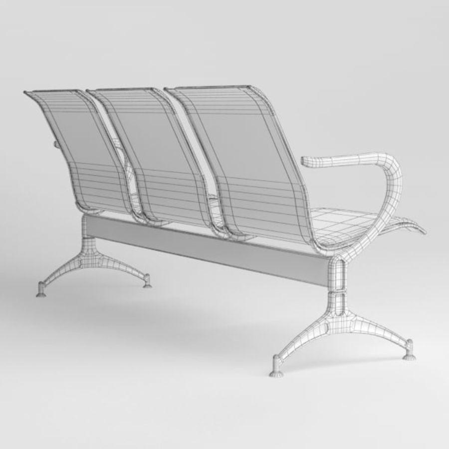 Krzesło lotniskowe royalty-free 3d model - Preview no. 10