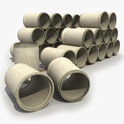 Concrete Pipes 2 3d model