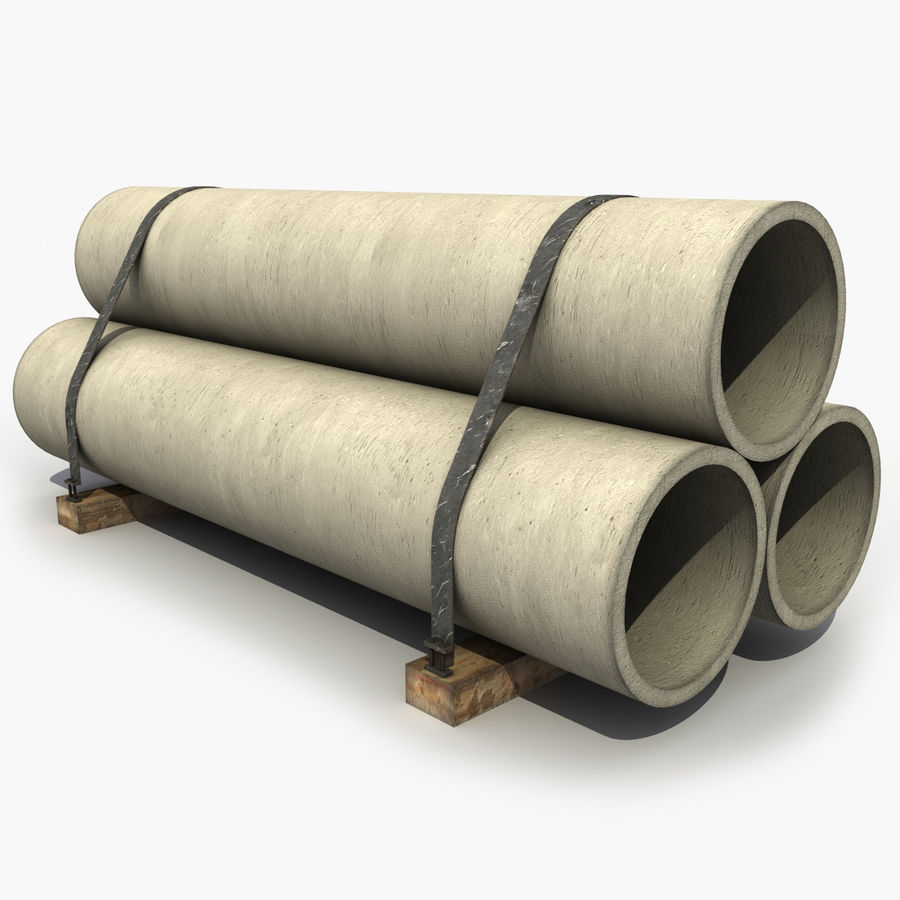 Pipe Barrier royalty-free 3d model - Preview no. 1